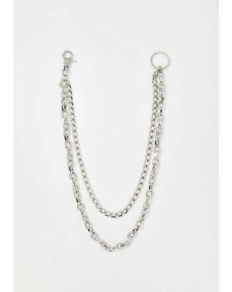 Chrome Poppin Chainz Jean Chain