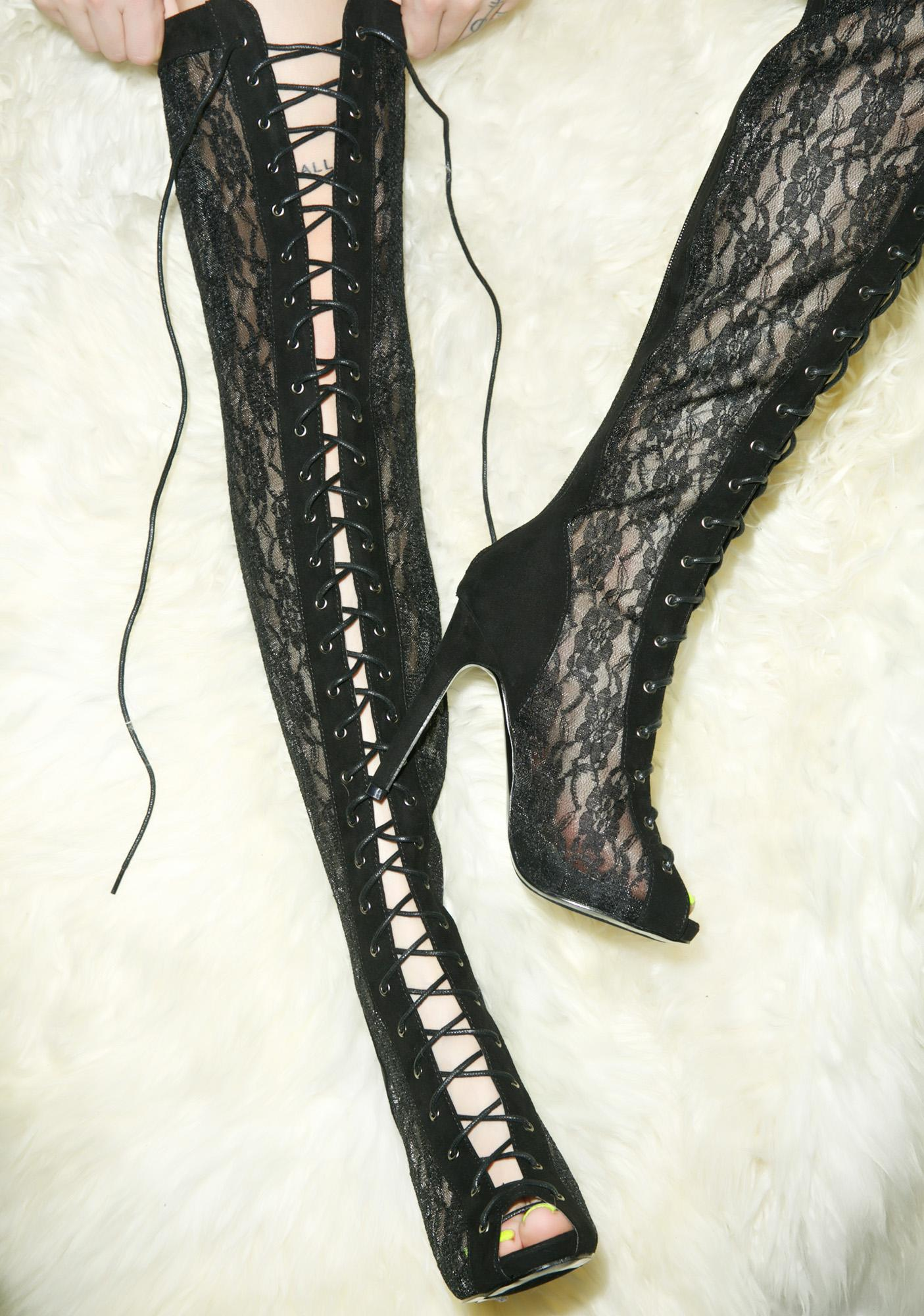 Priestess Sable Lace Up Boots