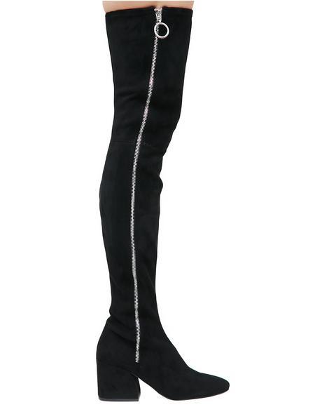 Vix Zip-Up Over The Knee Boots