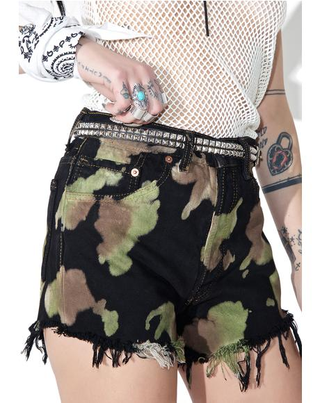 Reworked Levi's Tie Dye Shorts