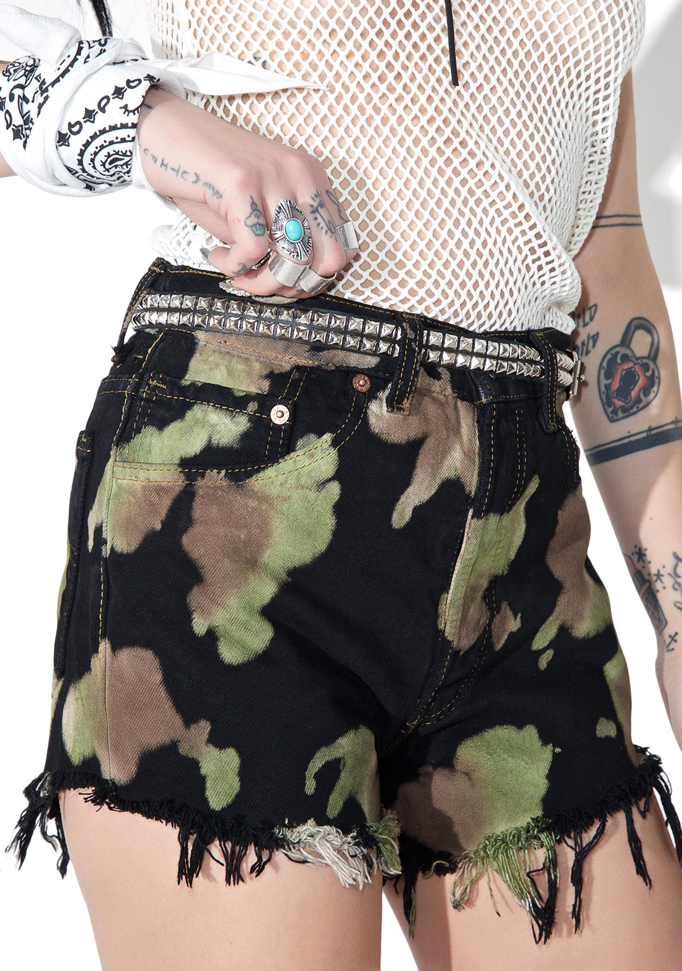 American Vintage Reworked Levi's Tie Dye Shorts