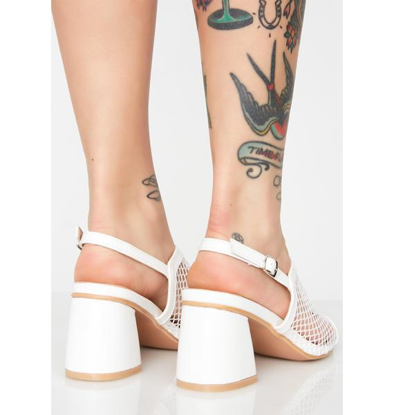 Mesh Fetish Heeled Mules