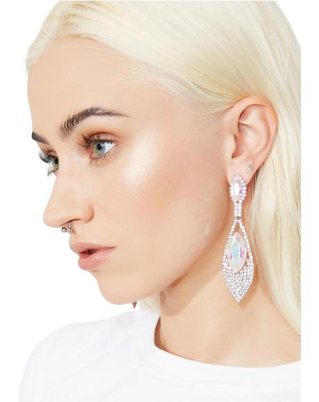 I'm The Queen Rhinestone Earrings