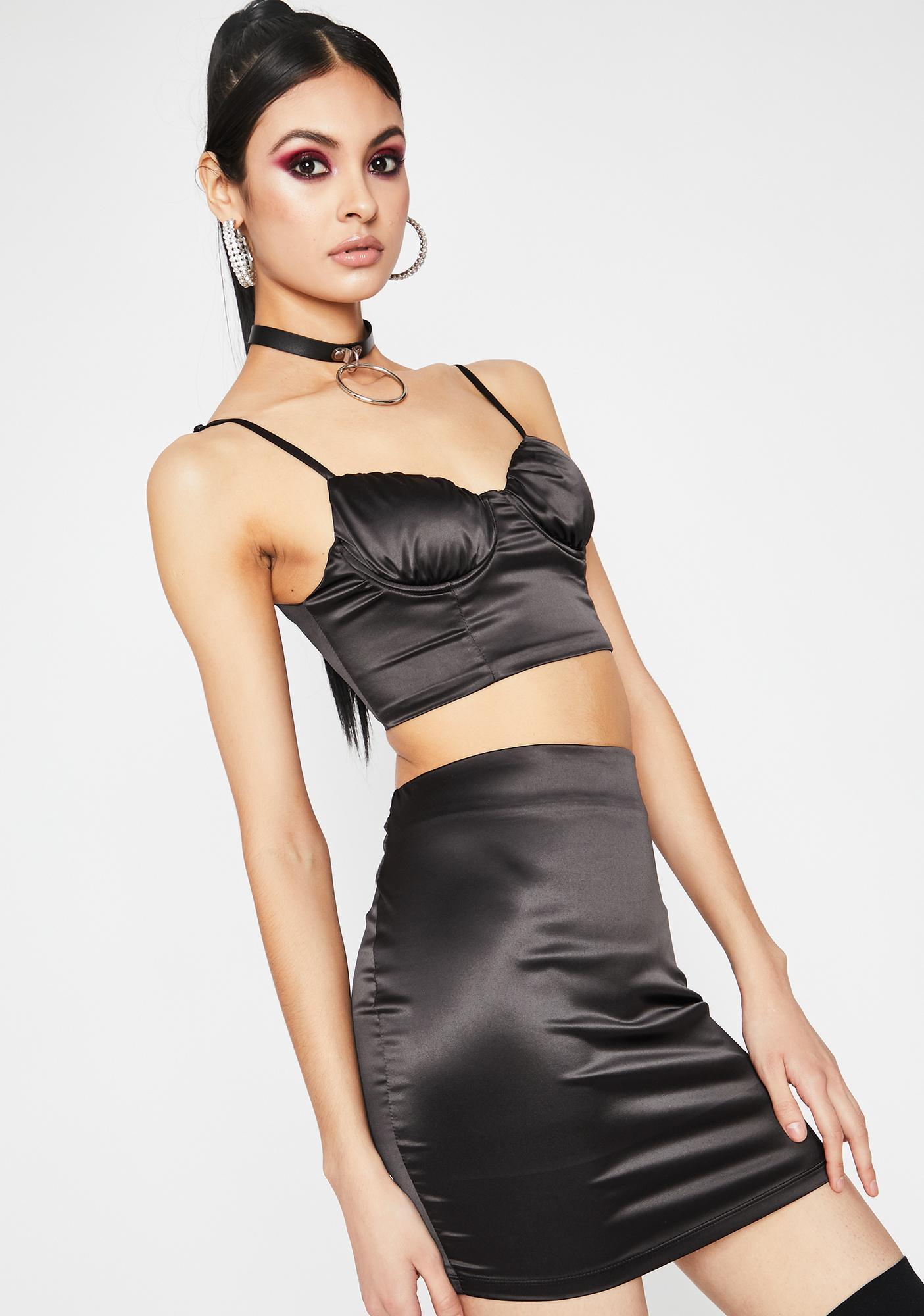 Slide Into My DMs Skirt Set