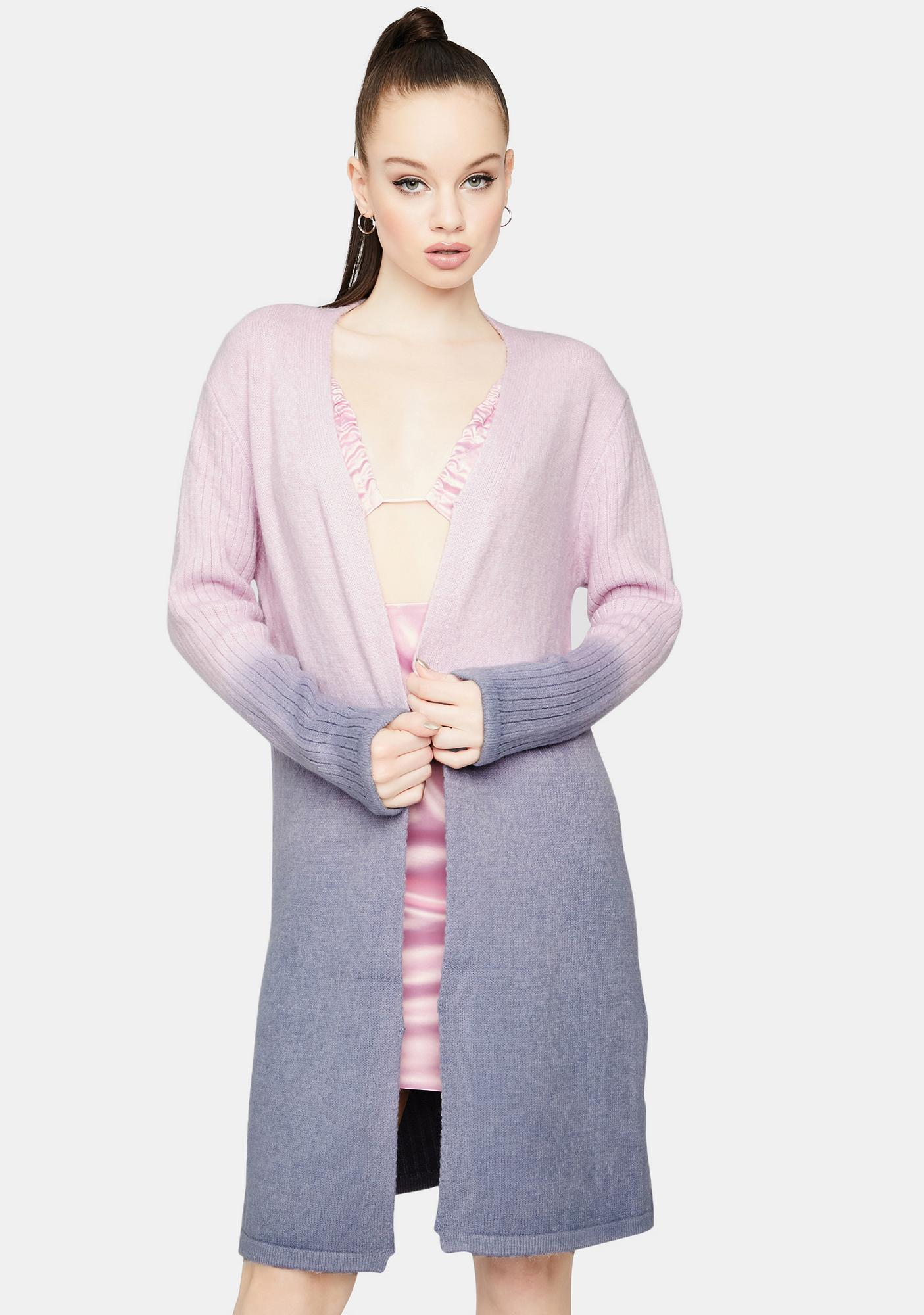Lavender Chasing Sunsets Ombre Cardigan