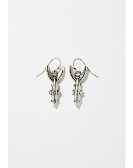Chrome Space Babe Earrings