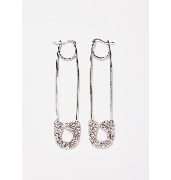Stay On Point Safety Pin Earrings