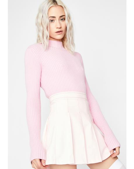 Prissy Pose Ribbed Turtleneck