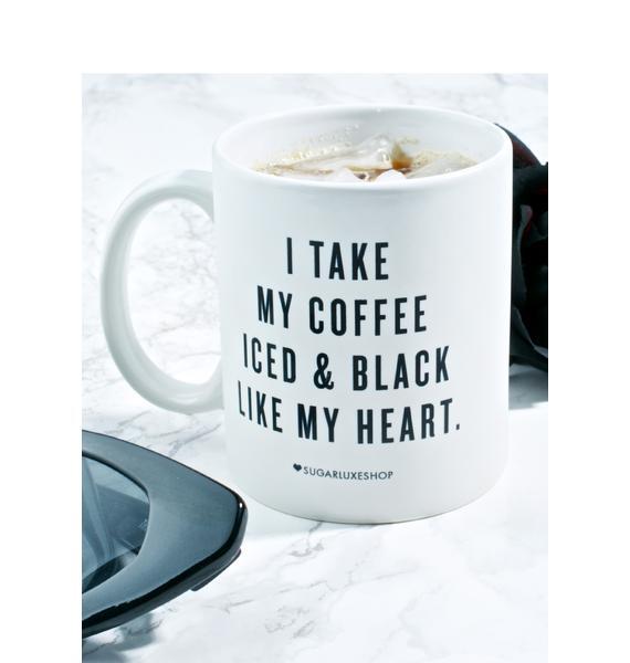 SugarLuxeShop Iced 'N Black Coffee Mug