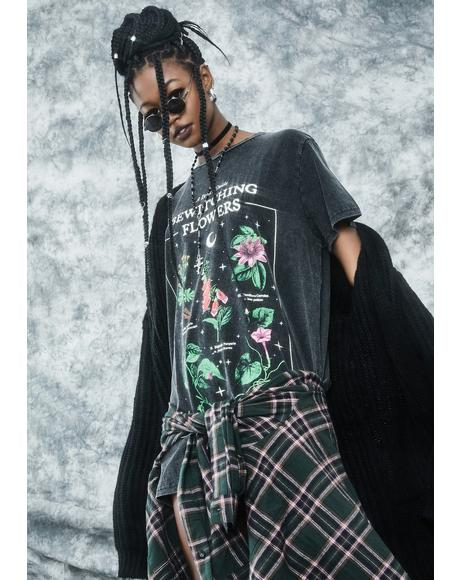 Essential Herbs Oversized Graphic Tee