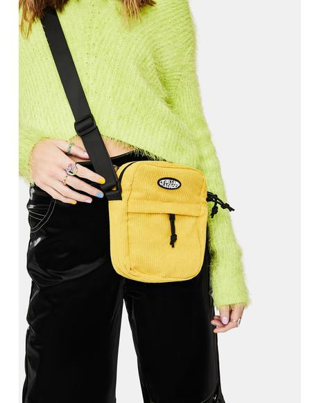 Mustard Corduroy Shoulder Bag