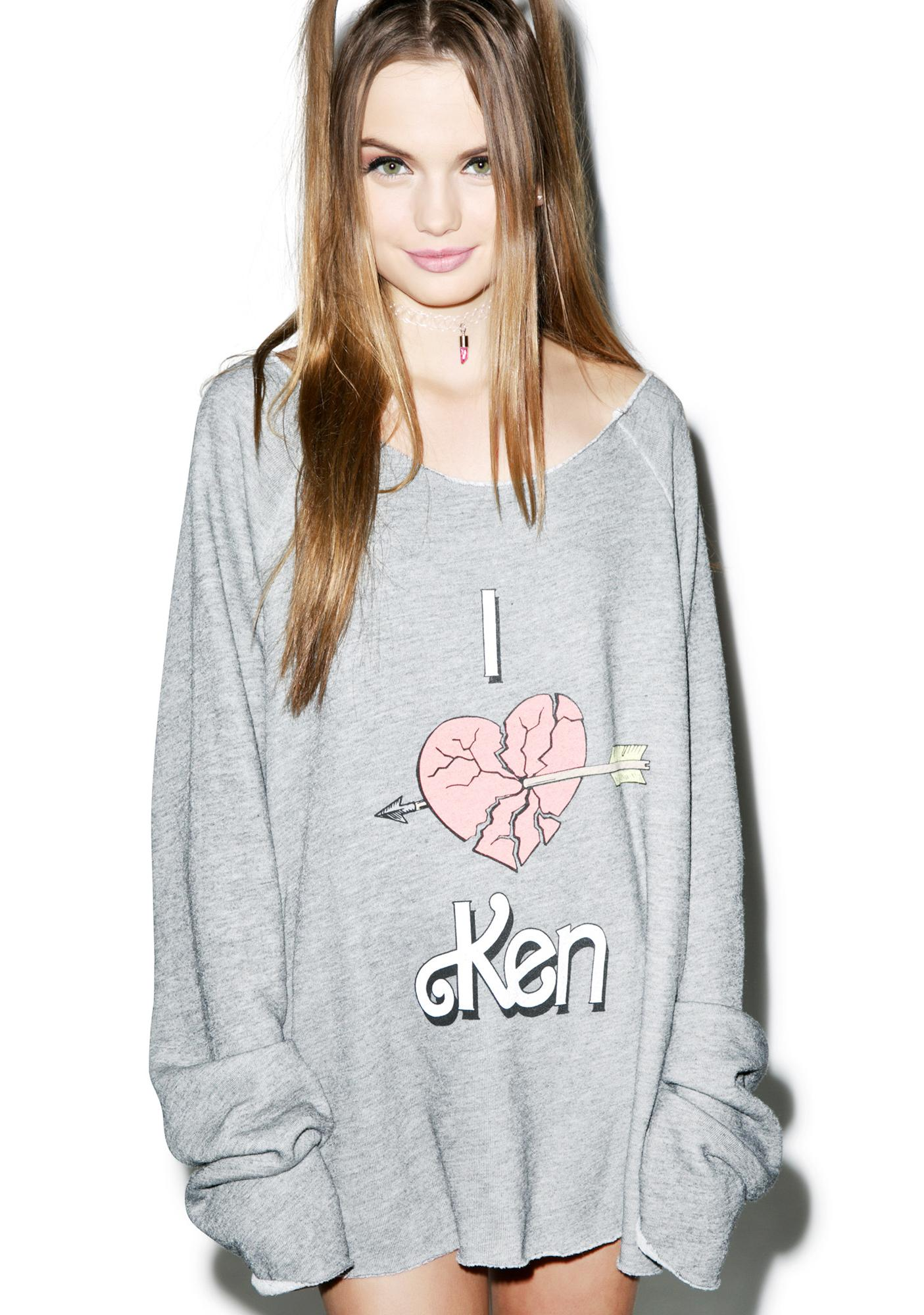 Wildfox Couture Heartbroken By Ken Morning Sweatshirt