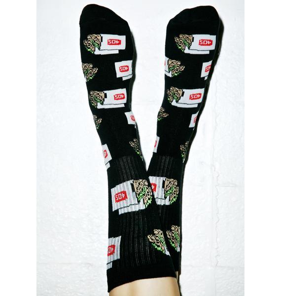 40s & Shorties 2 Tacos Crew Socks