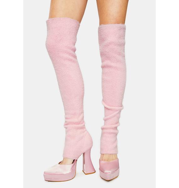 Sugar Thrillz Feelings Of Bliss Leg Warmer Heels