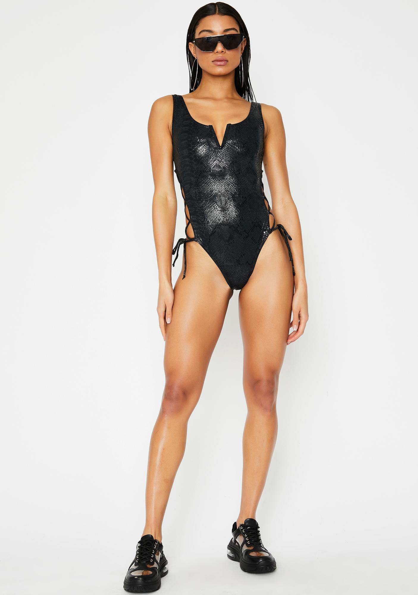 Poster Grl Drip Too Hard One-Piece Swimsuit