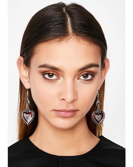 Evil Love Drop Earrings