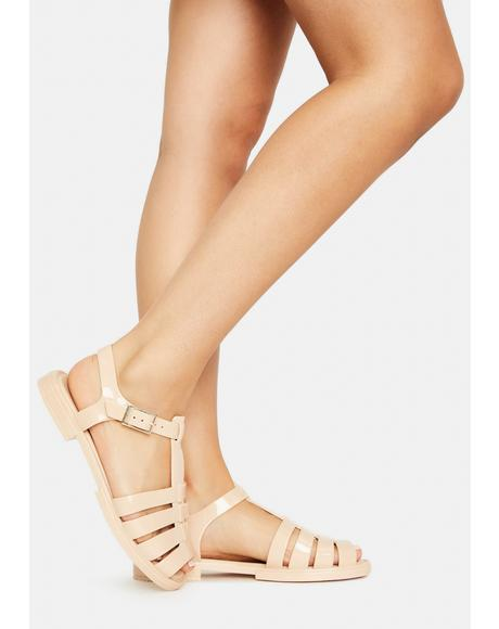 Latte Olly Jelly Sandals