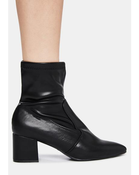 Make It Happen Patent Ankle Boots