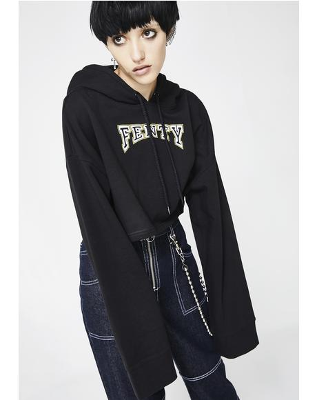 FENTY PUMA By Rihanna Hooded Cropped Sweatshirt