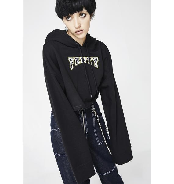 PUMA FENTY PUMA By Rihanna Hooded Cropped Sweatshirt