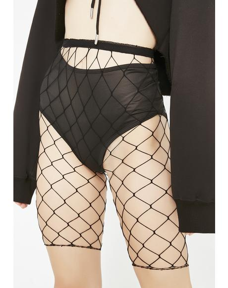Mega Ride it Out Fishnet Shorts