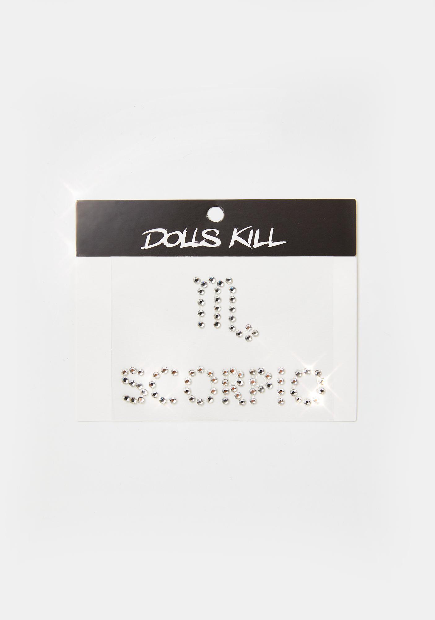 Sign Sealed Scorpio Face Gems
