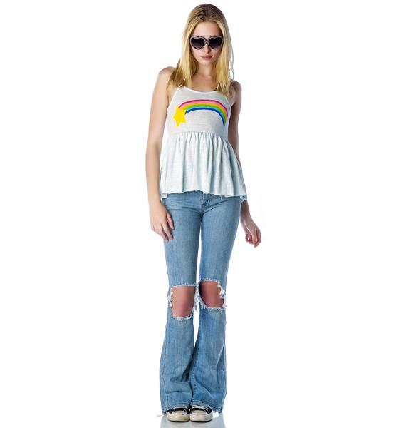 Wildfox Couture Grunge Rainbow Irish Festival Tank