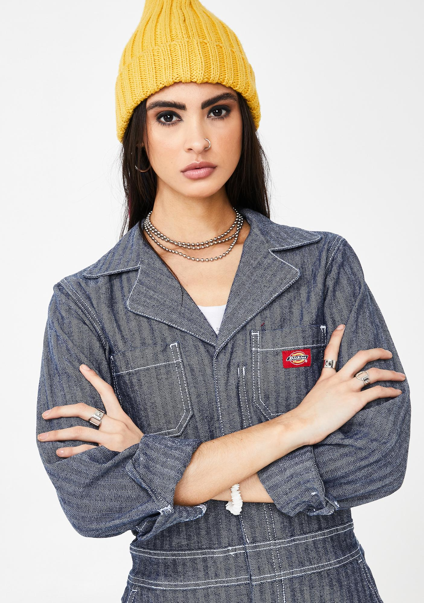 Dickies Girl Embroidered Straight Leg Jumpsuit