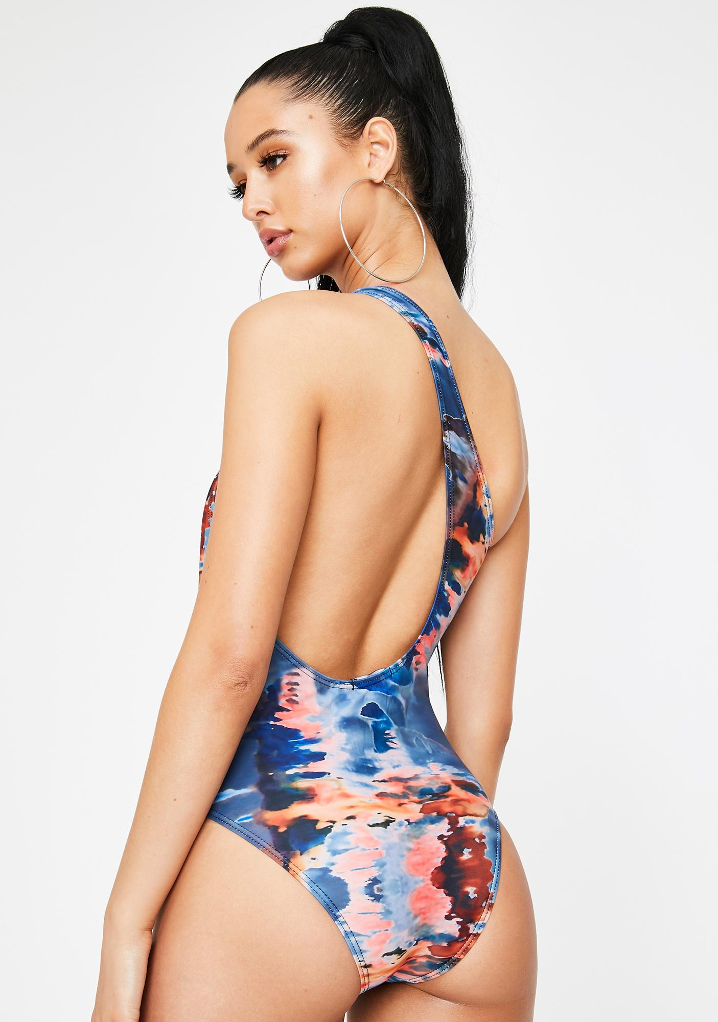 Poster Grl Inked Steady Mobbin' One Piece Swimsuit