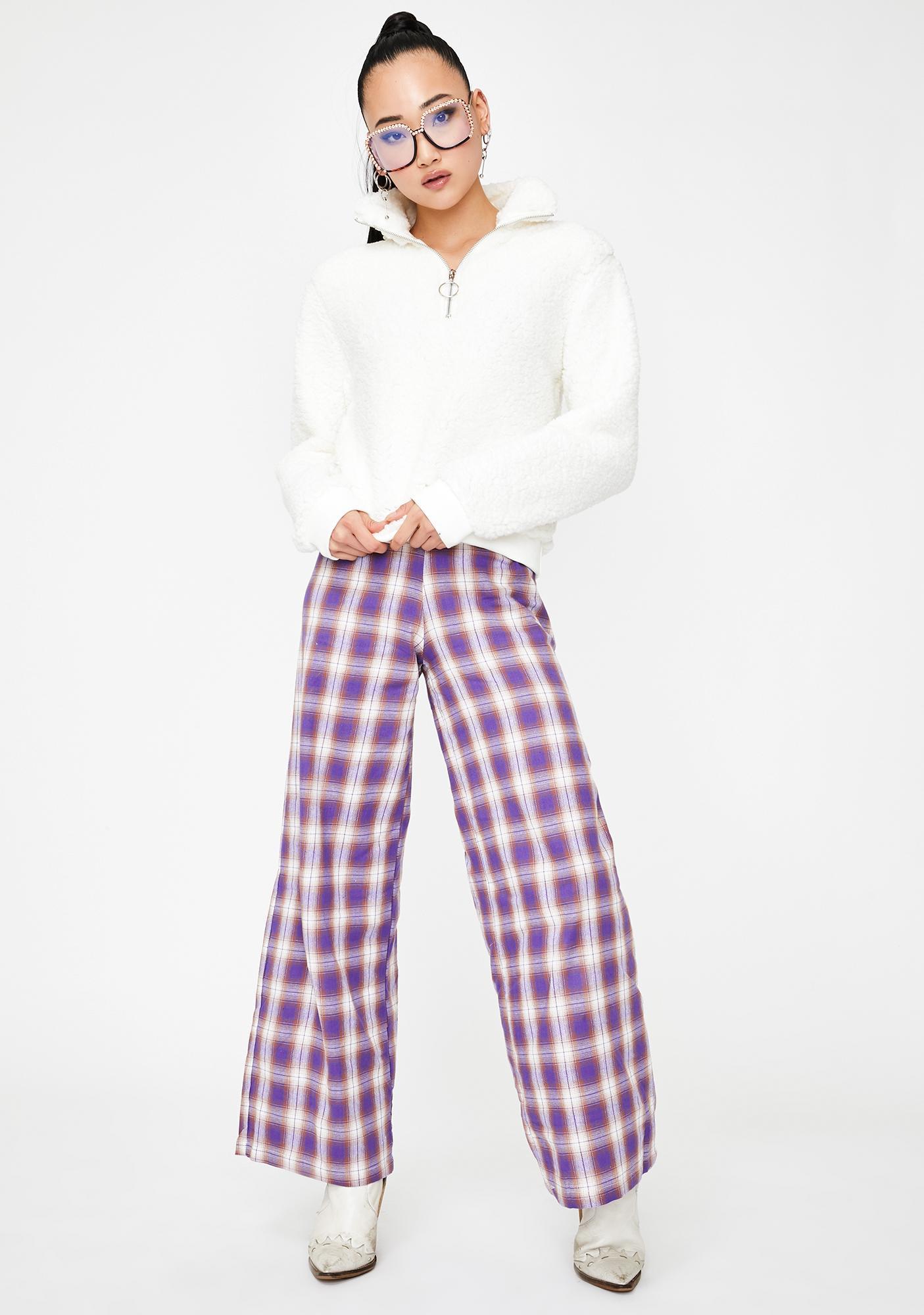 Lira Clothing Ivory Cozy Up Fleece Sweatshirt