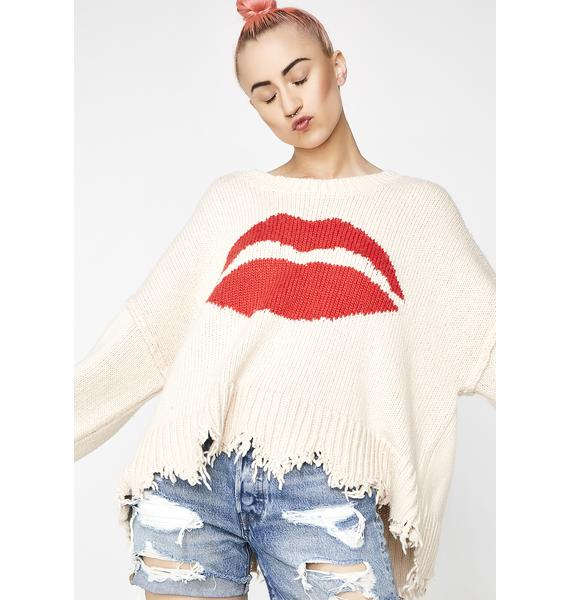 Wildfox Couture First Kiss Sweater