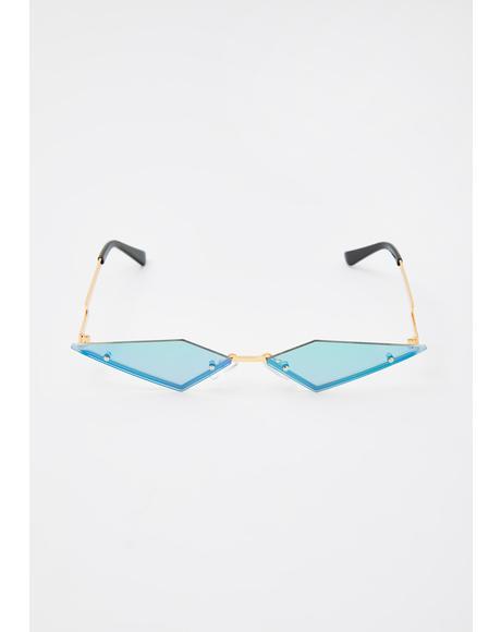Pixie Modern Rockstar Triangle Sunglasses