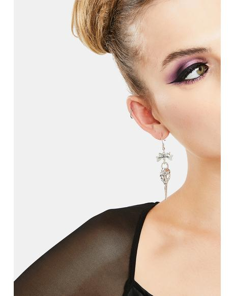 Deadly Beauty Skull Earrings