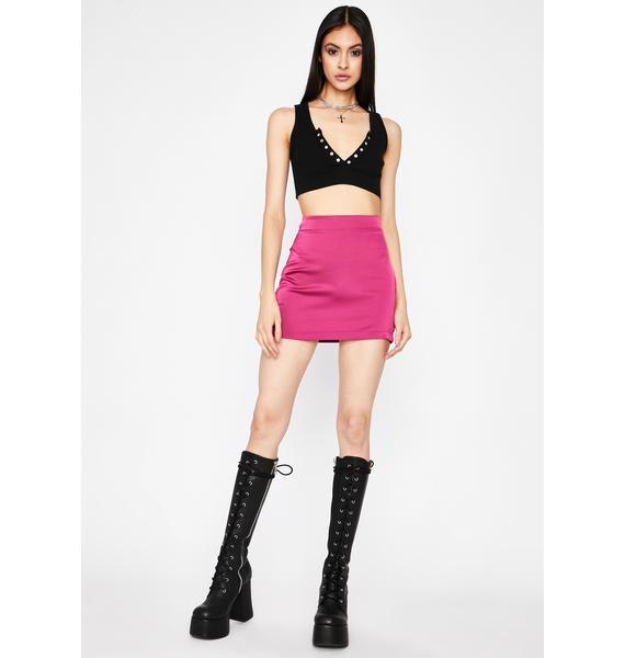 Professional Flirt Satin Skirt