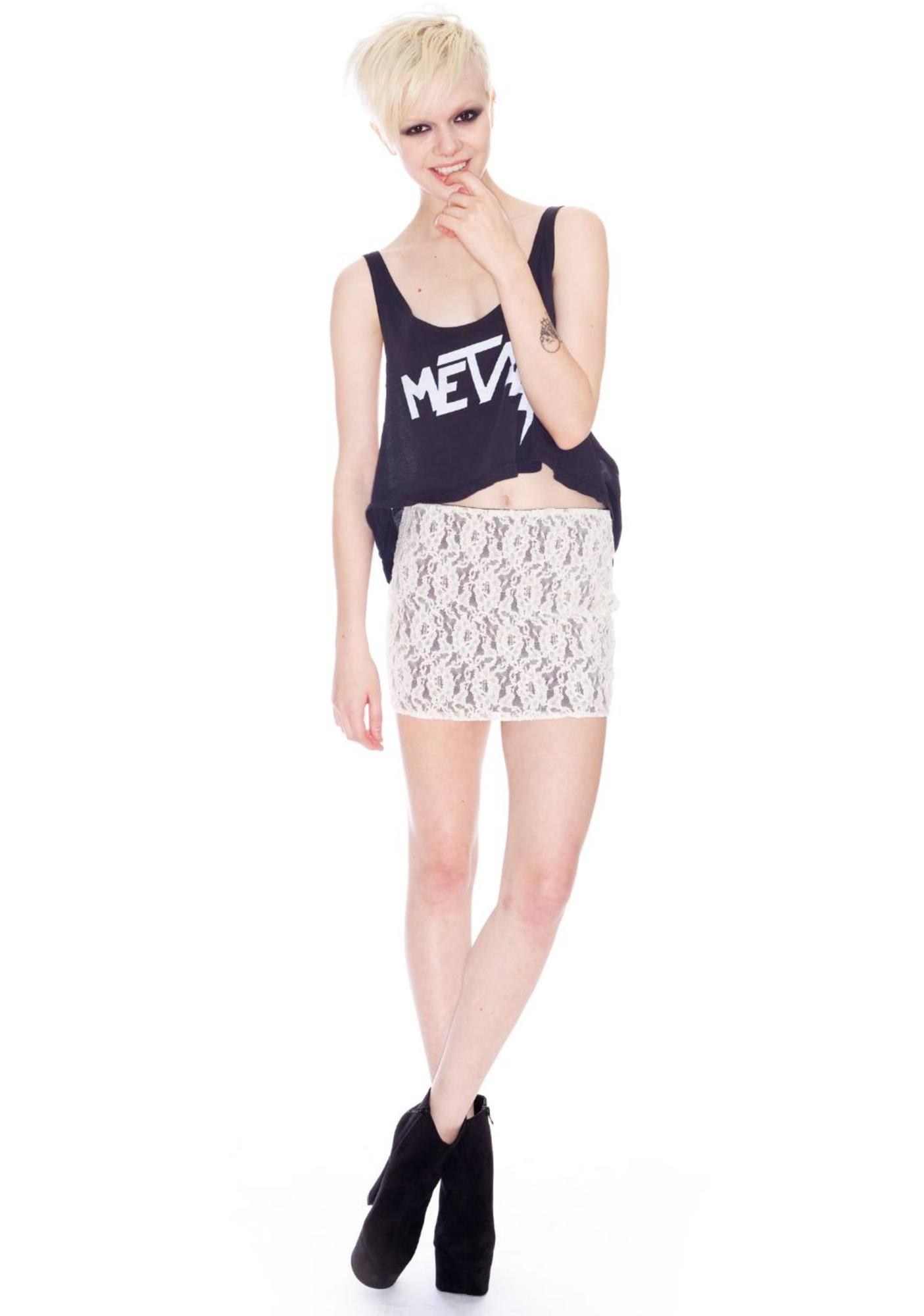 Lace Elastic Skirt