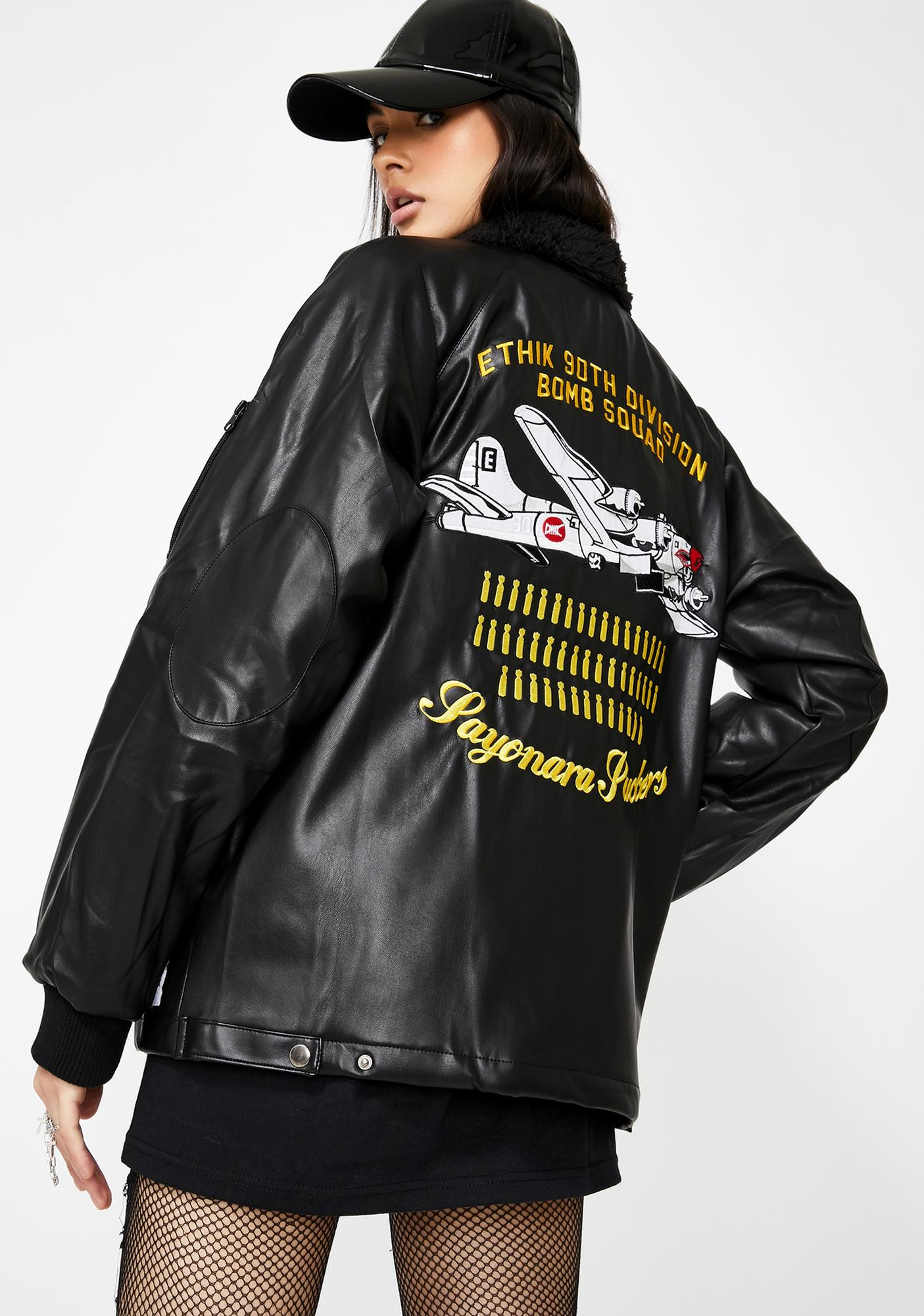 ETHIK Bomb Squad Vegan Leather Jacket