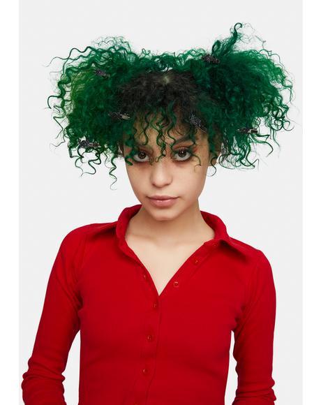 Ur Bugging Me Spider Hair Clip Set
