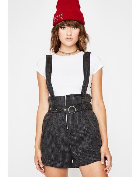 Wanna Kick It? Suspender Shorts