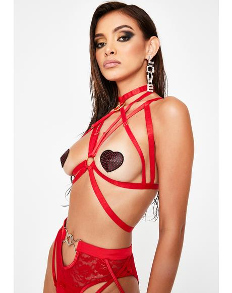 Trapped In Love Bra Harness