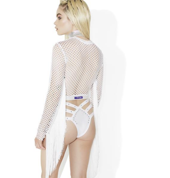 Rolita Rave Couture Set Me Free Fringe Crop Top