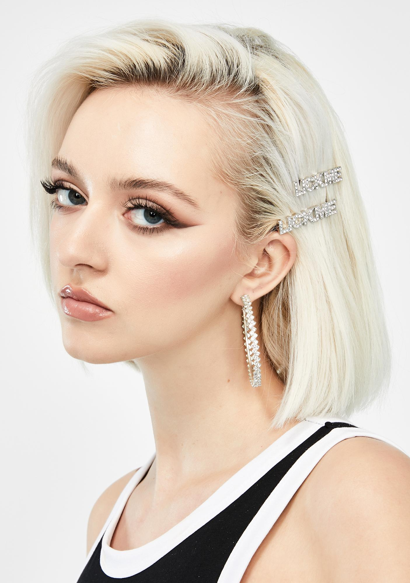 Lick This Rhinestone Hair Clips