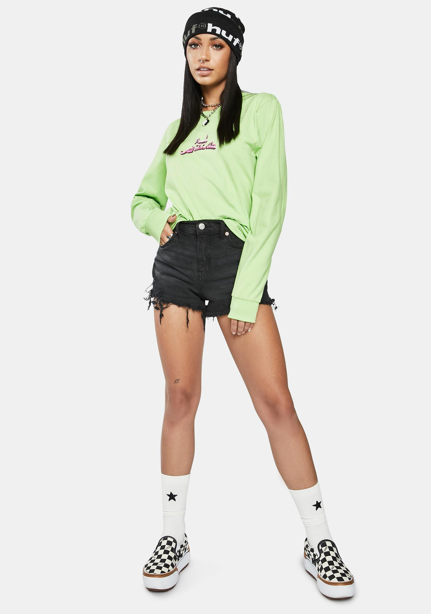 HUF Lime Drinking With The Devil Graphic Long Sleeve Tee