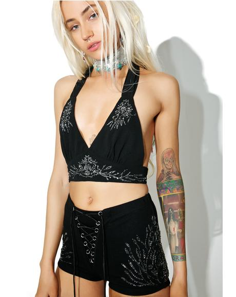 Moonflower Beaded Bralette