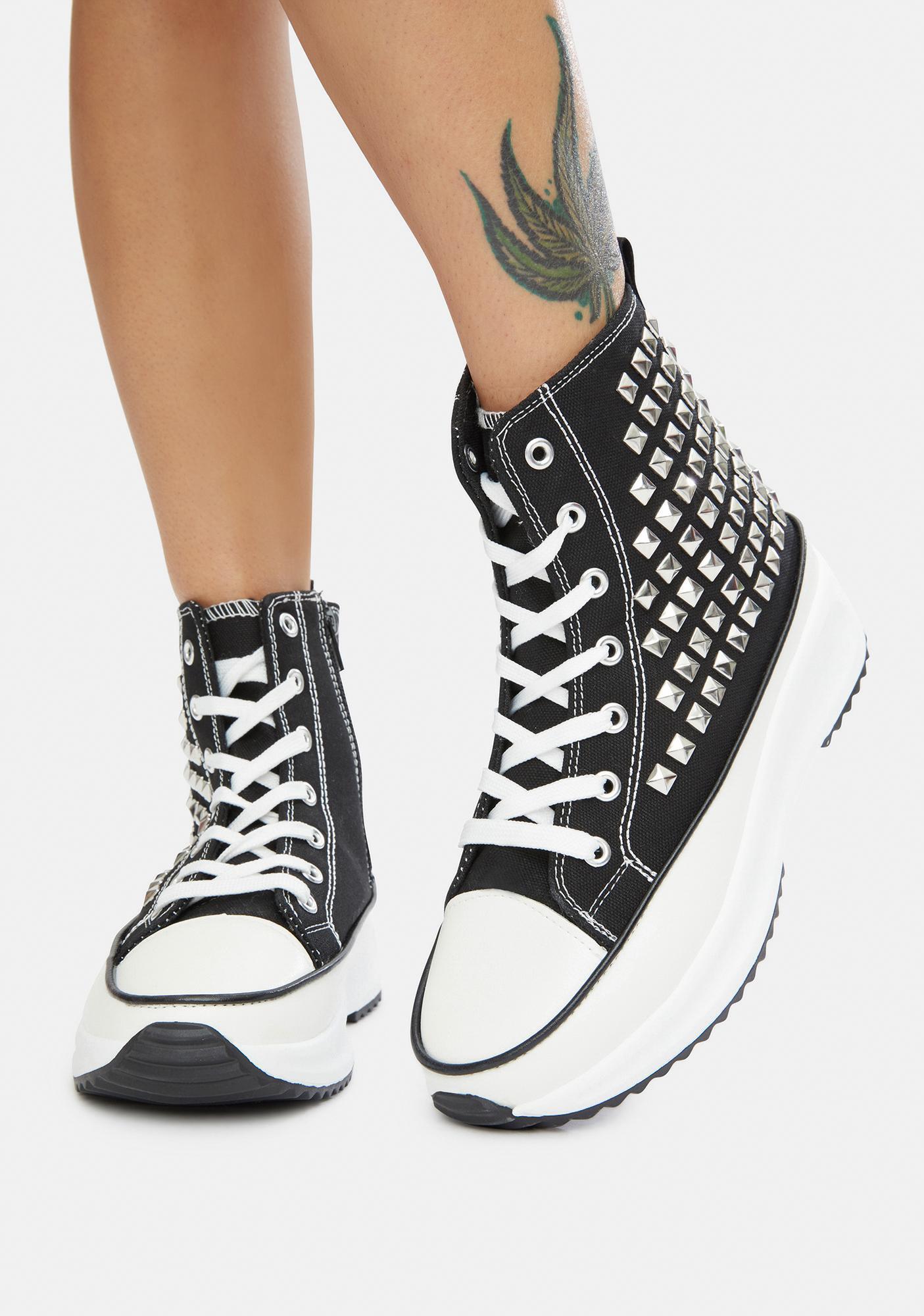 Night Good Lookin' Studded Hi Top Sneakers