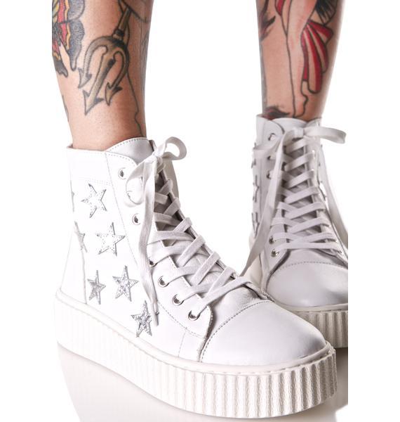 J Slides Richmond High Top Star Sneakers