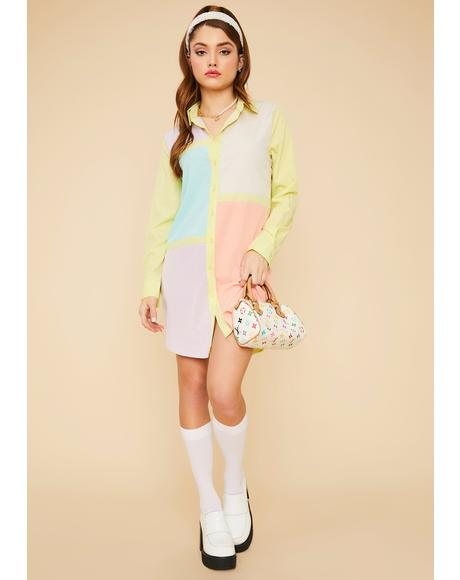 Sherbet Dreams Colorblock Dress