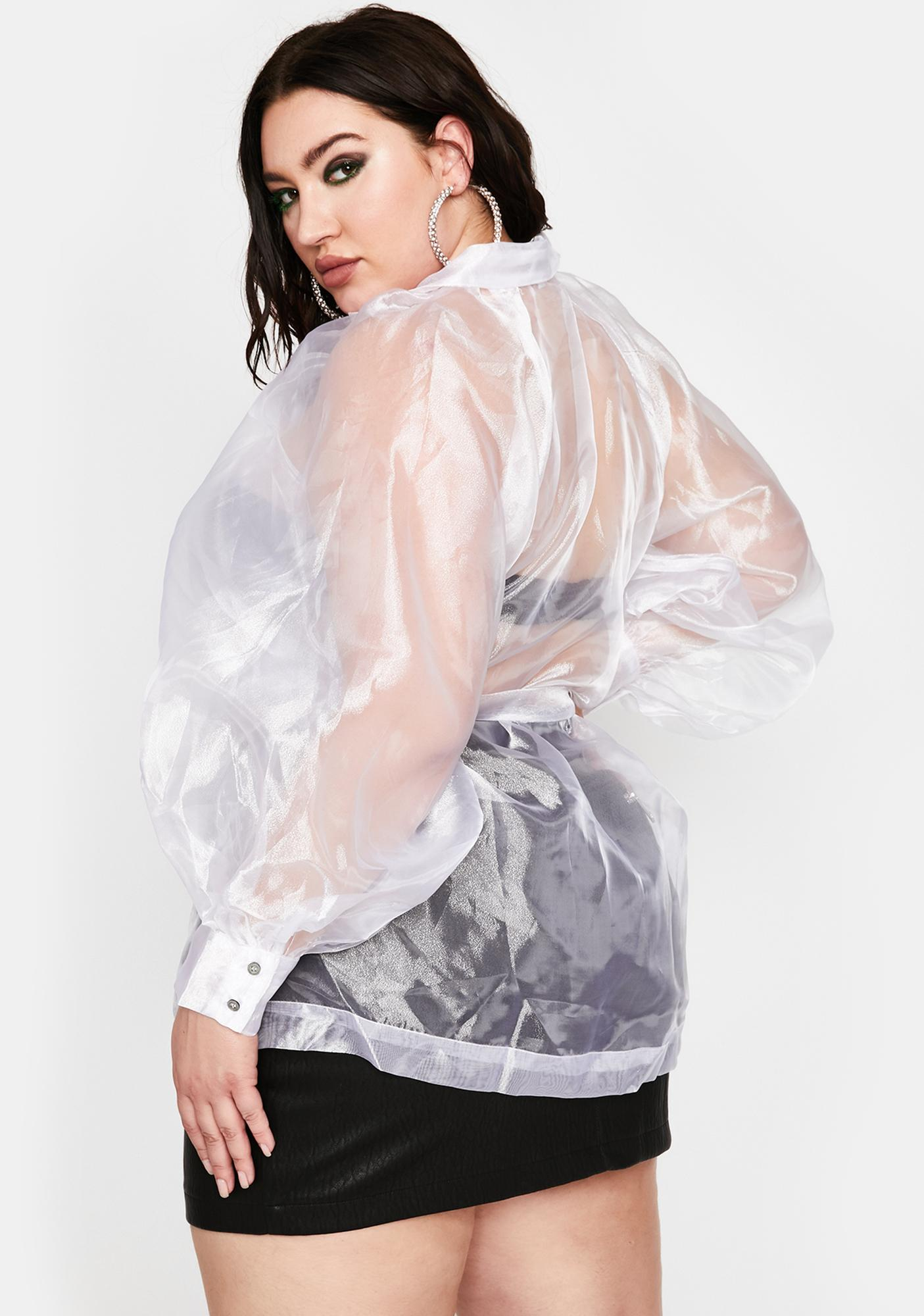 Ice My Mainstream Montage Organza Blouse