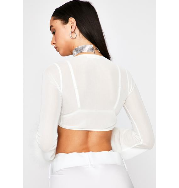 Icy Late Night Attention Crop Top