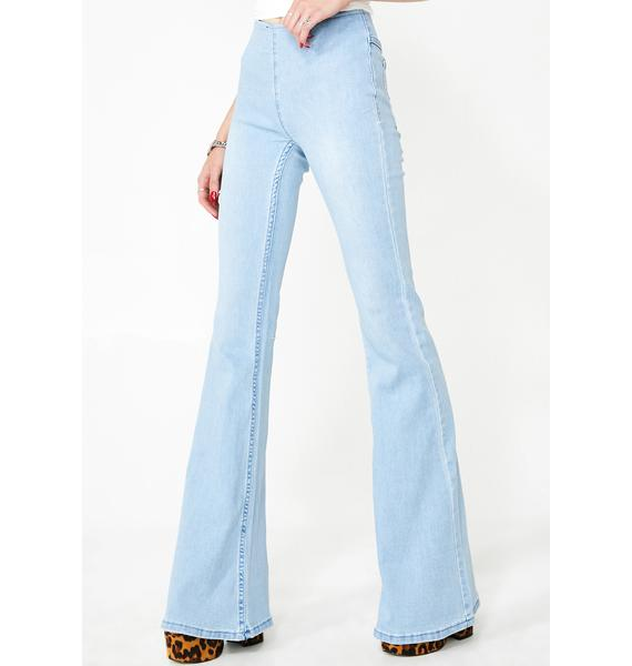 Sky American All Star Flared Jeans