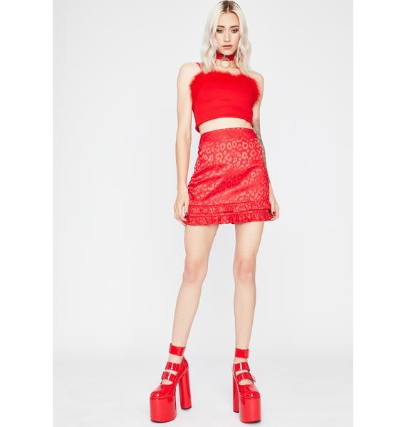 Scarlet Fierce For U Leopard Mini Skirt